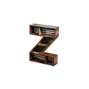 Libreria mensola a froma di Z stile industrial