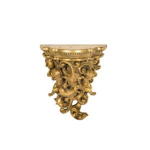Mensola oro barocco angeli