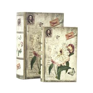 Set 2 scatole porta oggetti francobolli