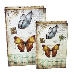scatole porta oggetti farfalla