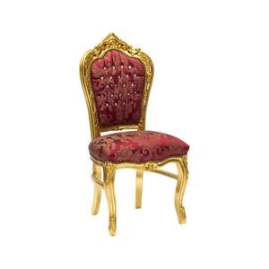Sedia barocco oro rosso
