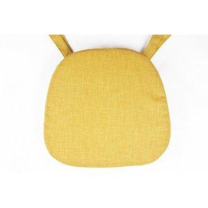 Coprisedia cuscino sagomato imbottitura poliuretano rivestimento in tessuto tinta unita ARANCIO larghi lacci 40x38x5cm
