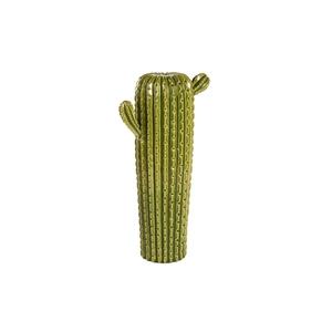 Cactus vaso in ceramica verde soprammobile decorativo H 40,5 cm
