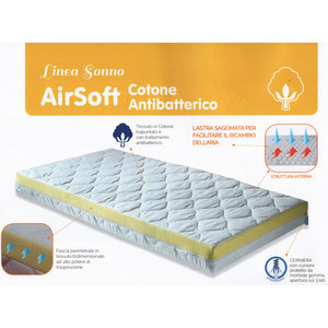 Materasso, Lettino, Airsoft, cotone, antibatterico, 70x140x10cm