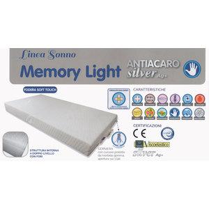Materasso, Lettino, Memory, Light, Silver AG+, antiacaro, 63x123x10cm