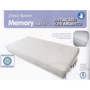 Materasso, Lettino, Memory, Silver AG+, antiacaro, ioni,argento, 63x123x12m