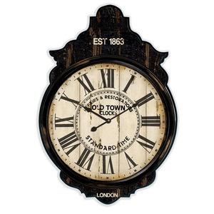 Orologio da parete cornice in legno marrone London