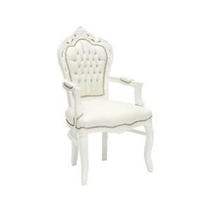 Poltrona barocco bianco stile Luigi XV