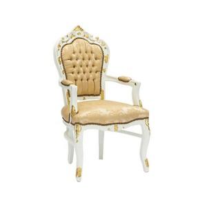 Poltrona barocco bianco oro stile Luigi XV