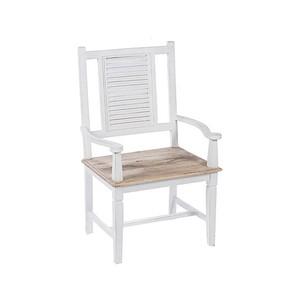 Poltrona in legno bianco Shabby Chic