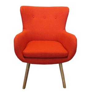 Poltrona colore arancio stile moderno new retrò