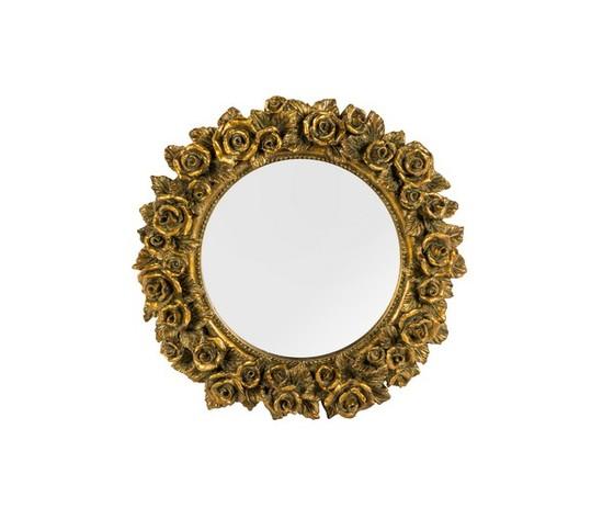 Specchio rotondo cornice oro rose stile barocco eshop23 - Specchio cornice oro ...