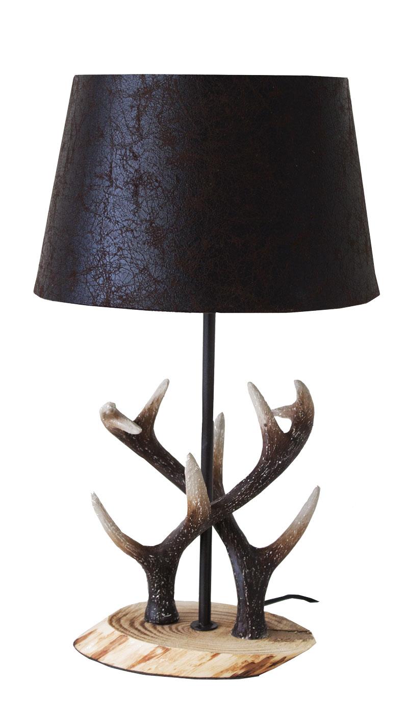Lampada tavolo cervo stile country eshop23 for Planimetrie delle case in stile cape cod