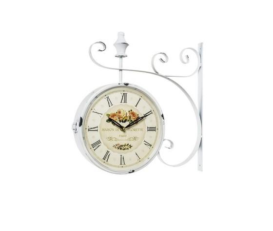 Orologio modello stazione bianco anticato rose