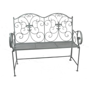 Panchina in ferro grigio