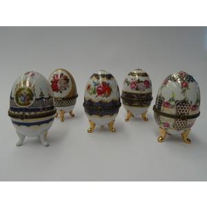 Set contenitori 5 uova in ceramica