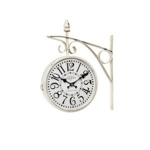 Orologio modello stazione bianco anticato