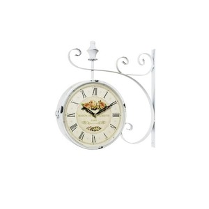 Orologio modello stazione bianco cafè