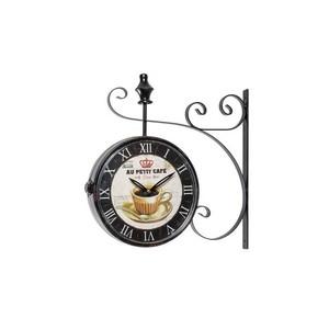 Orologio modello stazione nero cafè