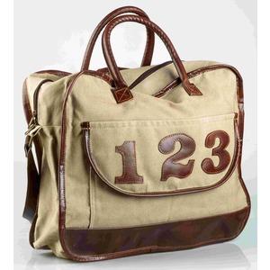 """Borsa cotone ecopelle tracolla """"123"""""""
