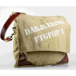 "Borsa tracolla cotone ecopelle ""Darjeeling"""