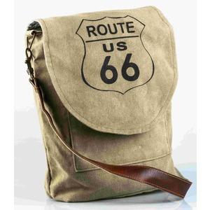 Borsa tracolla cotone ecopelle Route 66