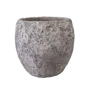 Vaso in terracotta grigio per giardino o terrazzo