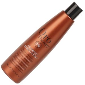 Keratin Shampoo Rubino Puro Oro Therapy 300ml Fanola ® Coloured & Treated Hair - Cheratinico per Capelli Colorati e Trattati
