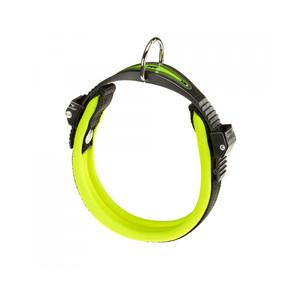Collare per cani con morbida imbottitura e chiusura con Microregolazione. Colore Verde/Nero