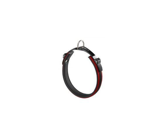 Collare ergonomico per cani. Sistema di Microregolazione. Colore Rosso/Grigio