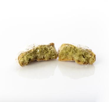 Dettaglio pasta di mandorla al pistacchio