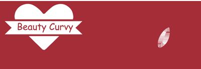 Logo beauty curvy bianco