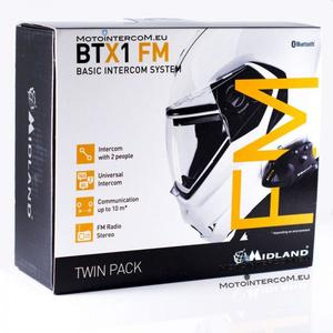 Sistema Interfono Bluetooth BTX1FM TWIN MIDLAND