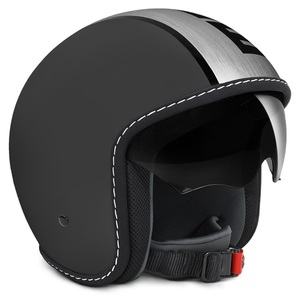 Casco jet Momo Design Blade Black Frost Satin Nero