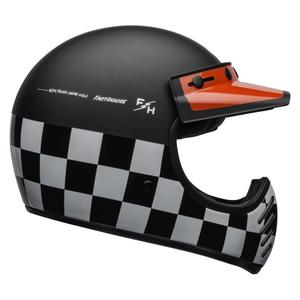 MOTO-3 BELL CHECKERS MATTE/GLOSS BLACK/WHITE/RED