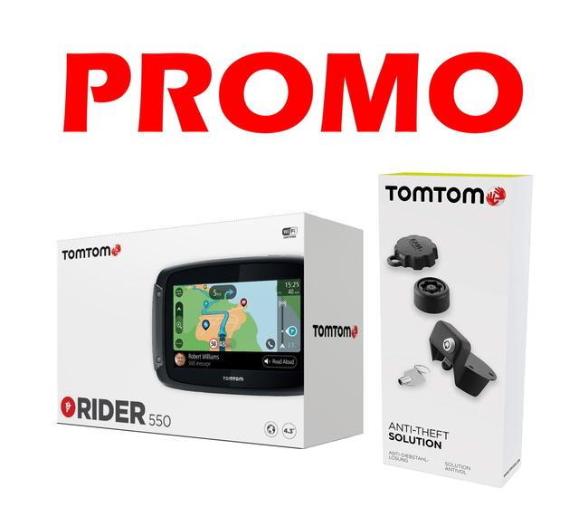 TOMTOM RIDER 550 PROMO ANTIFURTO