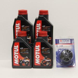 Kit cambio Olio Suzuki 16510-07J00-000 + Motul 7100