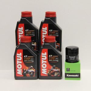 Kit cambio Olio Kawasaki 16097-0008 + Motul 7100