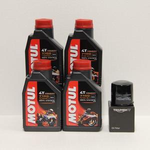 Kit cambio Olio Triumph T1218001 + Motul 7100