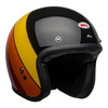Bell custom 500 culture helmet riff gloss black yellow orange red front right