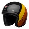 Bell custom 500 culture helmet riff gloss black yellow orange red front left