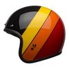 Bell custom 500 culture helmet riff gloss black yellow orange red left