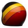 Bell custom 500 culture helmet riff gloss black yellow orange red back left
