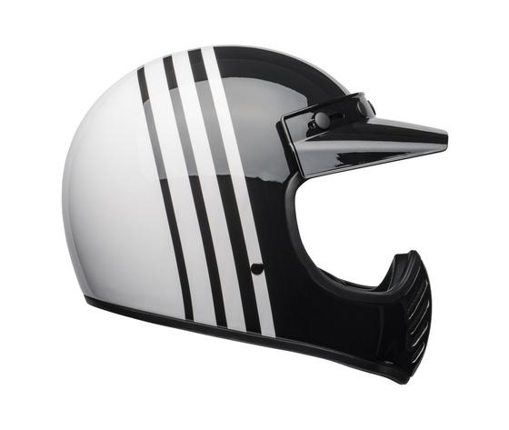 MOTO-3 BELL REVERB WHITE/BLACK GLOSS