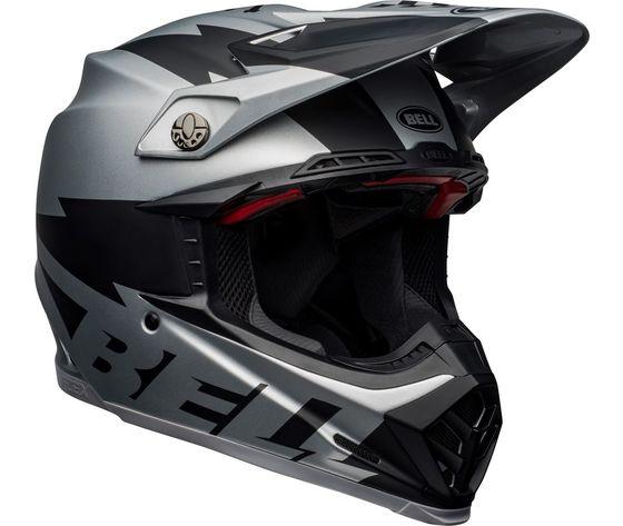 MOTO-9 FLEX BELL BREAKAWAY MATTE SILVER/BLACK