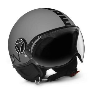 Casco jet Momo Design Fighter Classic Grigio Opaco - Nero