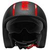 Casco moto jet momo design blade nero opaco decal rosso 79462 zoom