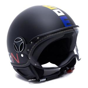 Casco jet Momo Design Fighter Classic Nero Opaco - Multicolor