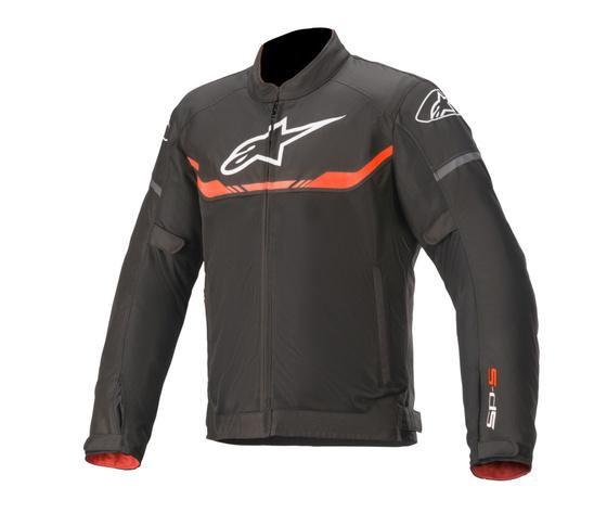 T-SPS AIR Giacca moto estiva Alpinestars Nero Rosso Fluo