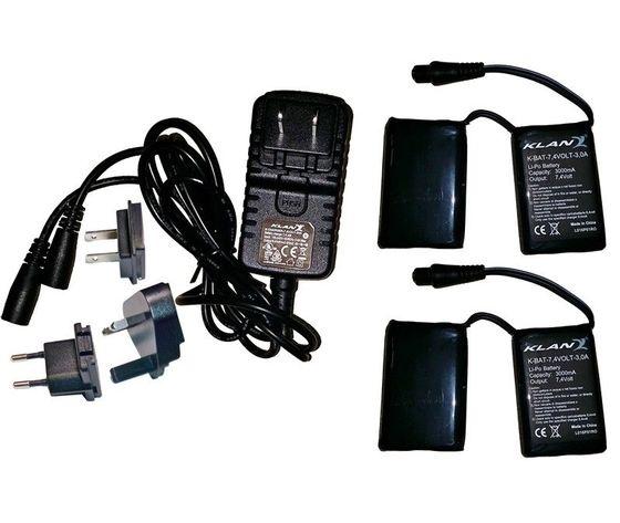 Kit batteria guanti e calze 7,4 volt‐ 3,0A Klan
